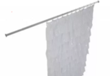 Карниз на ванную прямоугольный, материал полированная нержавейка