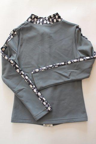Термокомплект, рост 110 (темно-серый с цветочными вставками