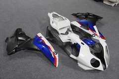 Комплект пластика для мотоцикла BMW S1000RR Бело-Сине-Черный 12-14, HP4 12-14