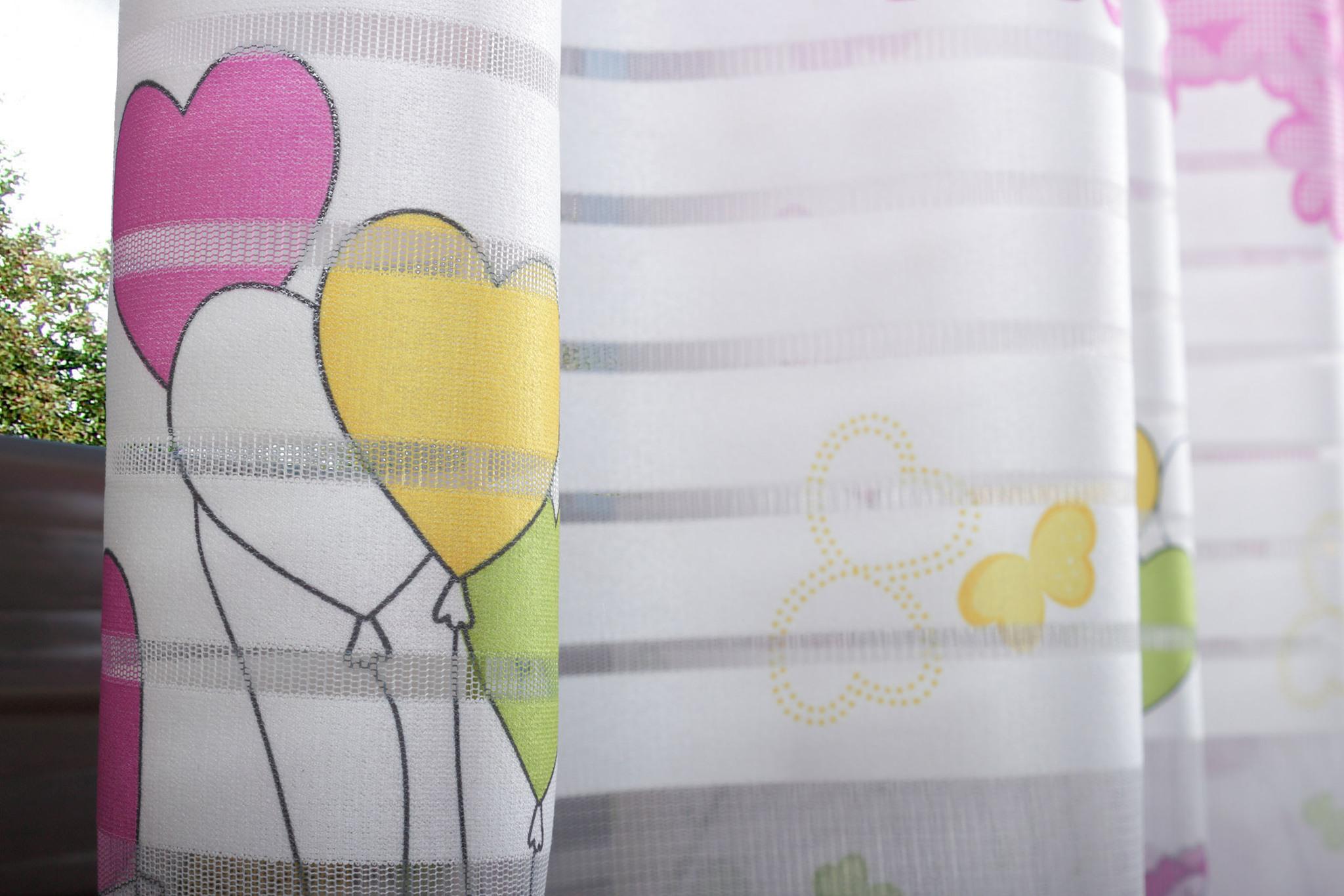 Готовая штора Веселый Мишка (розовый)