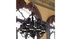 Italamp 284 8+4 Black Black CDF — Потолочный подвесной светильник
