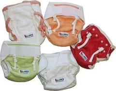 Пеленальные трусики на липучках Babyidea Hour Extra Aplix, Оранжевый кант L/XL (80-92 см)