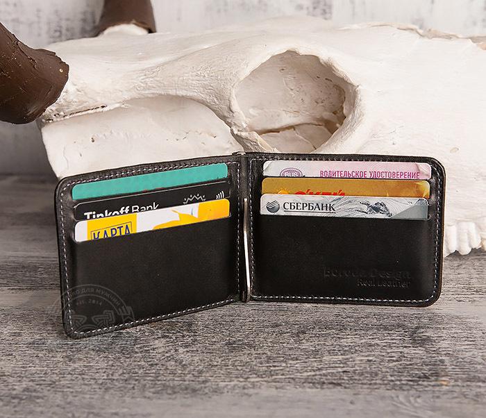 WB108-4 Яркий кошелек ручной работы с зажимом для денег. «Boroda Design» фото 04