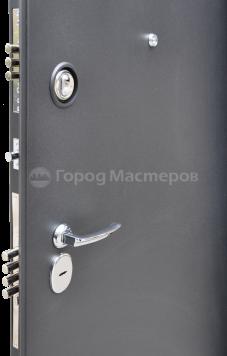 «Байкал» металлик черный/орех рифленый, Входная дверь