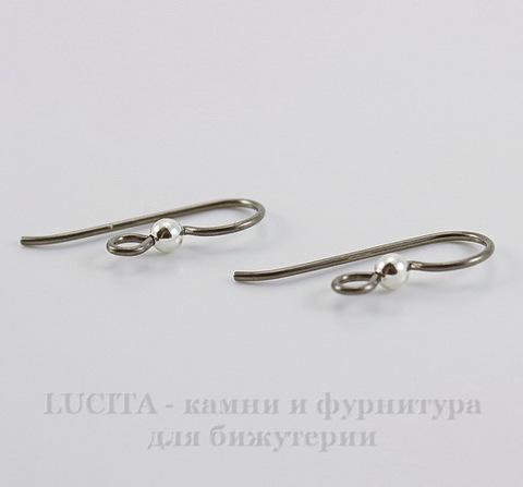 Швензы-крючки TierraCast с шариком 3 мм, 23х8 мм (цвет-античное серебро), пара