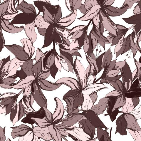 Коричневые цветы