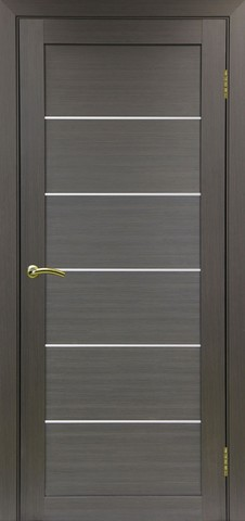 Дверь Optima Porte Турин 506.12, стекло матовое, цвет венге, остекленная