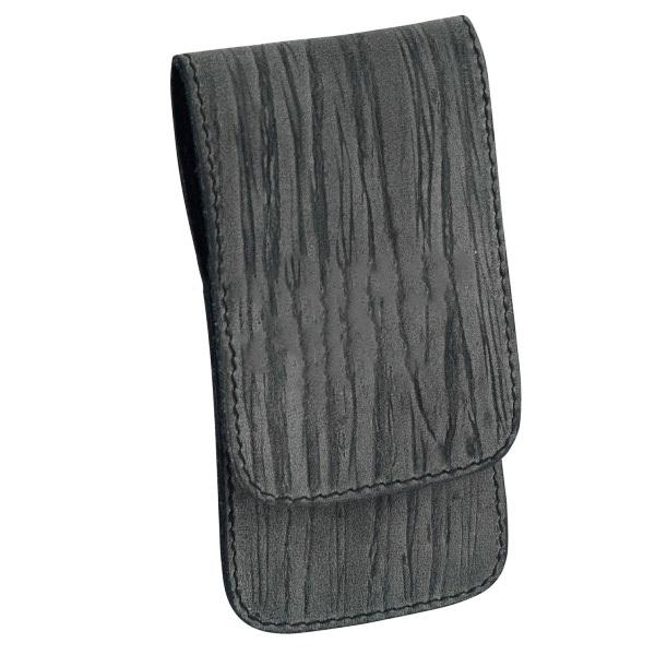 Маникюрный набор Erbe, 3 предмета, цвет серый, кожаный футляр