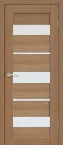 Дверь Fly Doors L-20, стекло матовое, цвет тиковое дерево 3D, остекленная