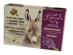Оливковое мыло с молоком ослиц и цветками лаванды Knossos 100 гр