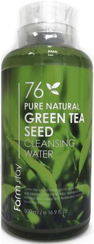 FarmStay Pure Natural Green Tea Seed Cleansing Water Очищающая вода с экстрактом зеленого чая, 500мл