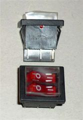 Выключатель 2-клавишный с подсветкой, черный для водонагревателей (Аристон  65150778)