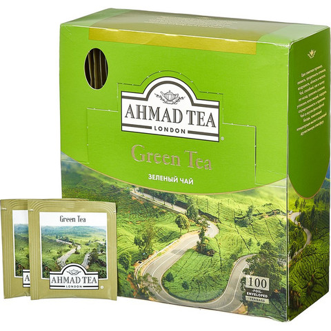 Чай Ahmad Green Tea зеленый 100пак/уп