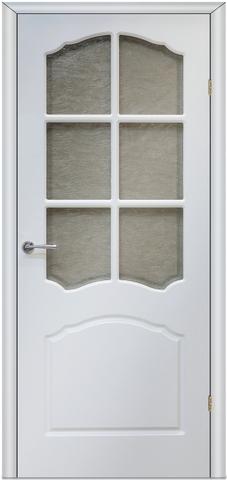 Дверь Верда Лидия, цвет белый, остекленная