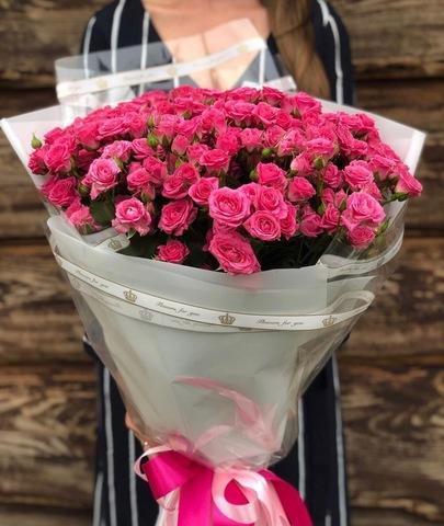 Букет из 19 кустовых роз 60 см #18461
