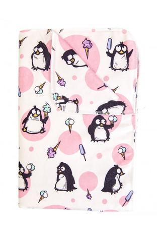 Впитывающая двухсторонняя многоразовая пеленка. Пингвины