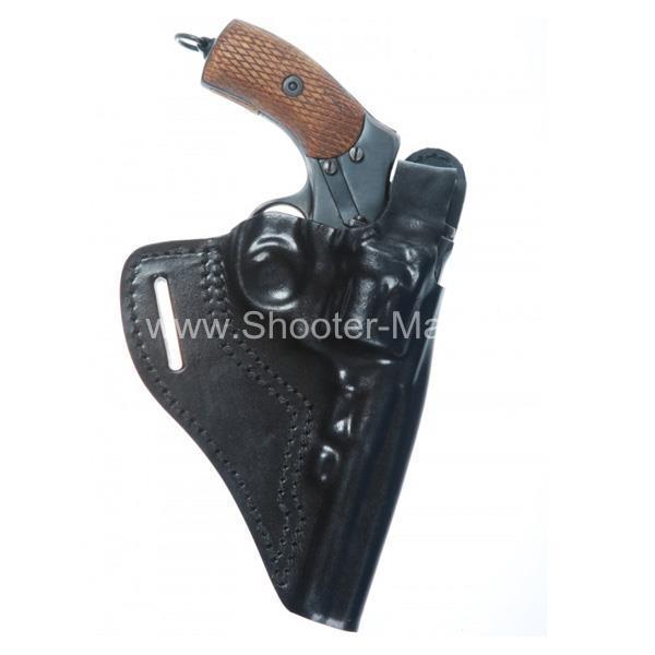 Кобура кожаная для револьвера Наган ( модель № 6 ) Стич Профи