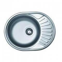 Мойка КромРус ЕС-457 для кухни из нержавеющей стали, правая