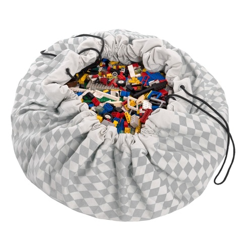 Мешок для игрушек Play&Go Print СЕРЫЙ БРИЛЛИАНТ