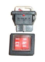 Выключатель 1 - клавишный с подсветкой (50175)