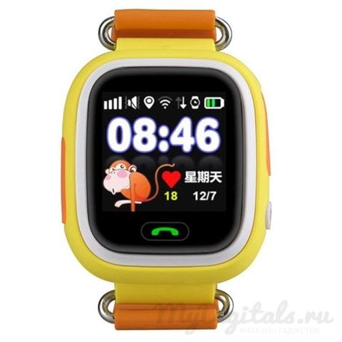 Детские часы с GPS трекером Smart Baby Watch Q80 (Оранжевый)
