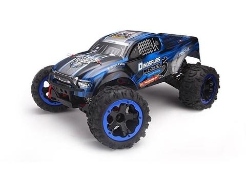 Радиоуправляемый монстр Remo Hobby Dinosaurs Master 5 Brushless 4WD 2.4GHz (синий) 1/8 RTR + АКК и З/У