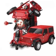 Радиоуправляемый робот трансформер Jeep Rubicon Red 1:14 - 2329PF Радиоуправляемый робот трансформер Jeep Rubicon Red 1:14 - 2329PF