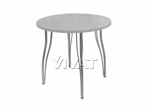 Стол обеденный круглый LС (ОС-12) Серый камень