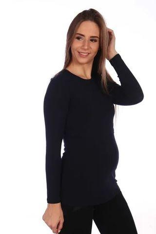 Мамаландия. Лонгслив для беременных и кормящих, темно-синий