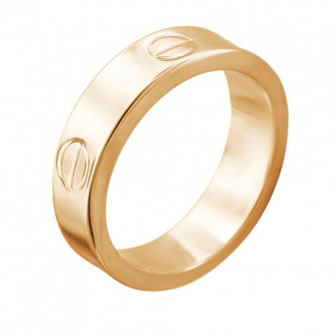 Кольцо из золота 585 пробы в стиле Картье