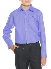 616D-6 рубашка для мальчиков, светло-синяя