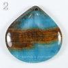 Подвеска Опал, цвет - коричнево-голубой (№2 (39х39 мм))