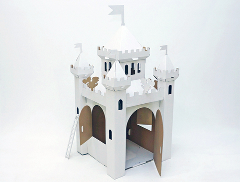 Домик из картона «Сказочный замок», белый
