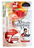 Набор увлажняющих масок с экстрактами 10 фруктов, Japan Gals