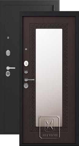 Дверь входная Легион L-1, 2 замка, 1,5 мм  металл, (чёрный муар+венге)