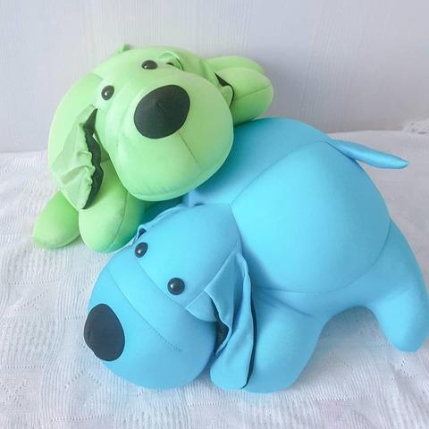 Подушка-игрушка антистресс «Голубой Патрик» 5