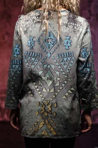 Женский пуловер Koko Arrows Cactus Bay. Made in USA