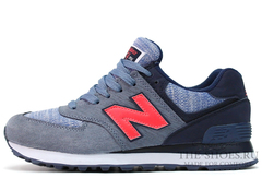 Кроссовки Женские New Balance 574 Sharpen Grey Blue Red