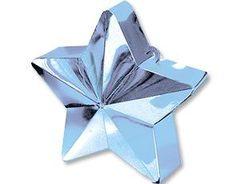 Грузик для шара Звезда светло-голубой 170гр
