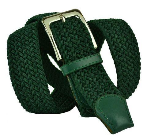 Ремень-резинка текстильный зелёный металлик 35 мм 35Rezinka-100