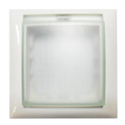 Рамка на 1 пост, универсальная защитная с крышкой для выключателей и розеток. Цвет Белый. LK Studio LK60 (ЛК Студио ЛК60). 869104