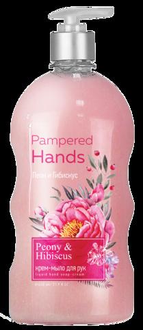 Фабрика Ромакс Pampered Hands Крем-мыло для рук Пион и гибискус 650г