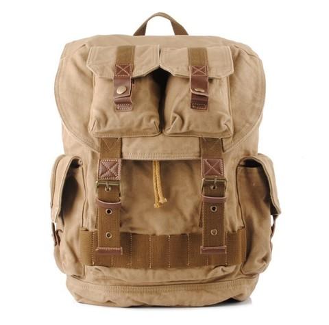 Винтажный рюкзак из парусины S.C.Cotton 1076