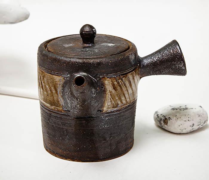 POT103 Керамический чайник ручной работы в японском стиле («Kюсу») фото 03