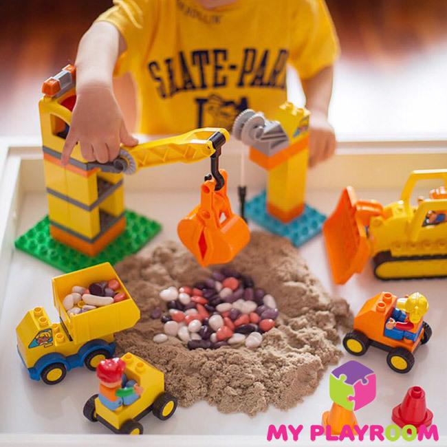 Купить детскую домашнюю песочницу Плюс с ножками
