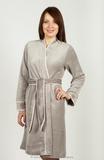 Серебристый женский халат Pepita