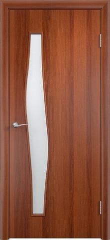 Дверь Верда С-10, цвет итальянский орех, остекленная