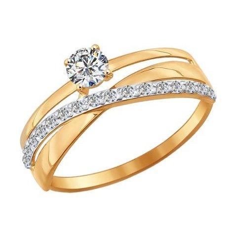 Кольцо из золота с фианитами арт. 016898 SOKOLOV