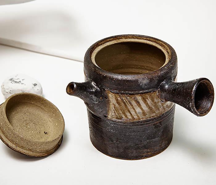 POT103 Керамический чайник ручной работы в японском стиле («Kюсу») фото 05