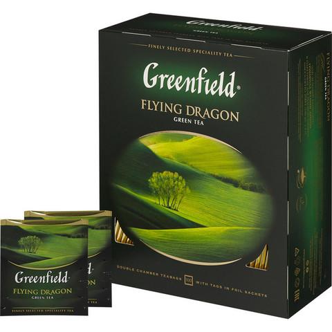 Чай Greenfield Flying Dragon зеленый фольгир.100пак/уп